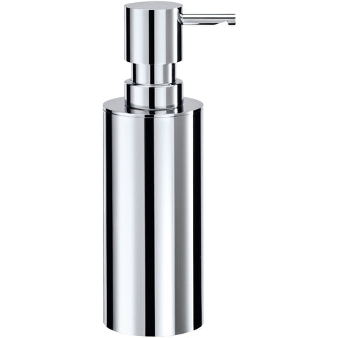 MK Brass Pump Free Standing Soap Lotion Dispenser 200 ml / 6.8 oz - Chrome - AGM Home Store LLC