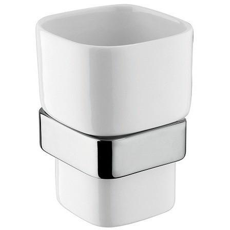 BA Modulo Wall Ceramic Toothbrush Toothpaste Holder Bathroom Tumbler - Brass - AGM Home Store LLC