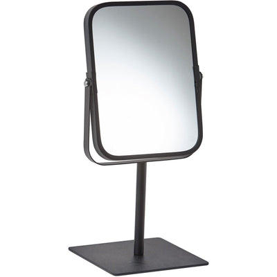 Moon Stainless Steel Free Standing Cosmetic Makeup Square 2X Magnifying Mirror - AGM Home Store LLC