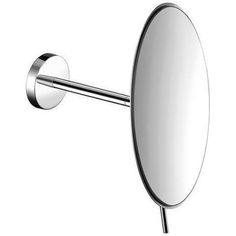 SCBA Wall Mounted Round 4X Adjustable Cosmetic Makeup Magnifying Mirror - Brass - AGM Home Store LLC