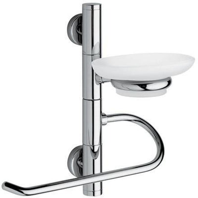 BA Wall Bath Towel Bar Rail Holder Hanger & Soap Dish Holder Set - Brass - AGM Home Store LLC