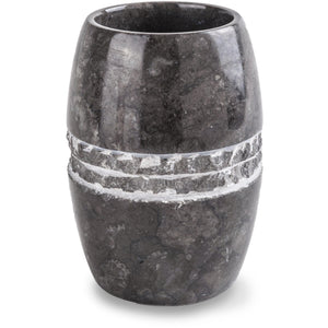 CP Merapi Round Toothbrush Toothpaste Holder Tumbler, Marble - AGM Home Store LLC