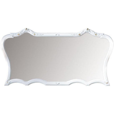 GM Luxury Monet Decorative Wall Art Mirror for Elegant Interior Design, White 70.5x35.4 - AGM Home Store LLC