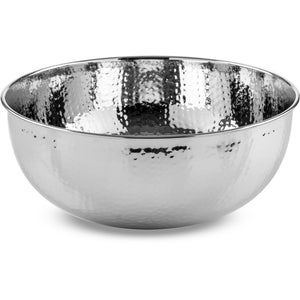 CP Round Chrome Vessel Sink Above Counter Sink Lavatory for Vanity, Brass - AGM Home Store LLC