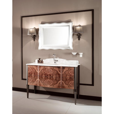 "GM Luxury Nouveau 48.4"" Bath Vanity Cabinet Set Single Sink, Briar Wood and Gray - AGM Home Store LLC"