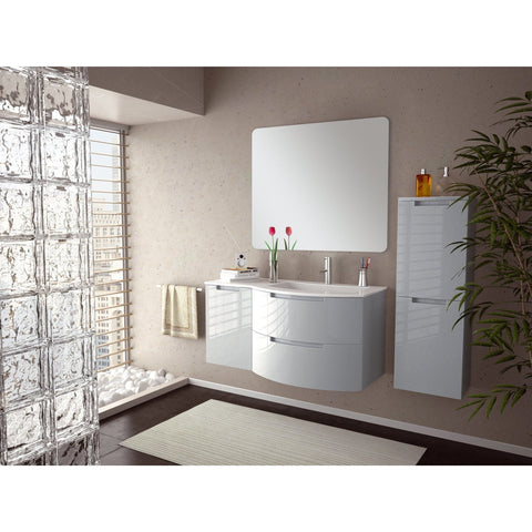 LaToscana Oasis 43 in. Wall Mounted Bathroom Vanity Left Cabinet Set Bath Furniture - AGM Home Store LLC