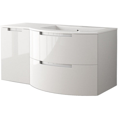 LaToscana Oasis 53 in. Wall Mounted Bathroom Vanity Left Cabinet Set Bath Furniture - AGM Home Store LLC