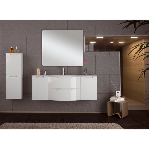 LaToscana Oasis 57 in. Wall Mounted Bathroom Vanity Cabinet Set Bath Furniture - AGM Home Store LLC