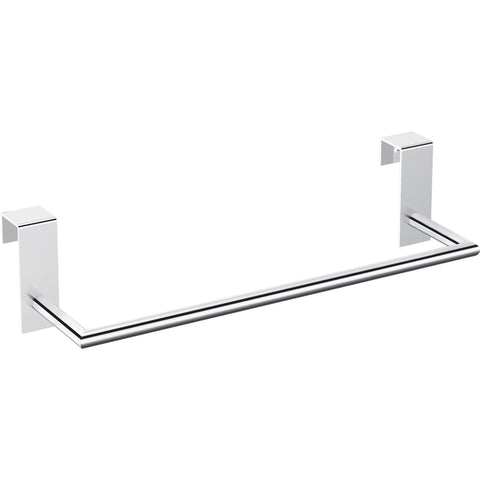 Tick Over the Cabinet Door Towel Bar Rail Holder for Bathroom and Kitchen, Brass - AGM Home Store LLC