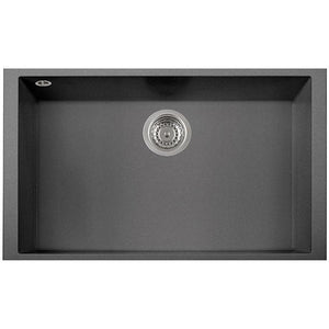 "Pogno Plados 30"" x 18"" Single Basin Granite Kitchen Undermount Sink in a Titanium Finish - AGM Home Store LLC"