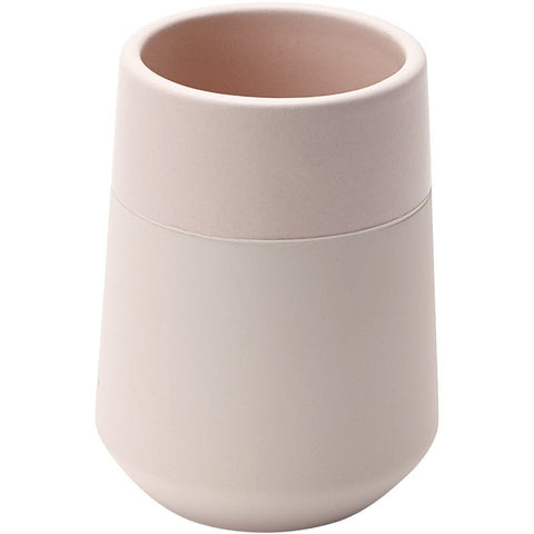 Opaco Round Ceramic Bathroom Toothbrush Holder Standing Toothpaste Tumbler - AGM Home Store LLC