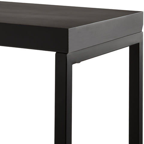Orto Rubberwood Backless Bathroom Vanity Stool Bench with Metal Legs - AGM Home Store LLC