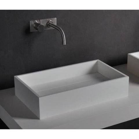 Solidpure 20 in. Rectangular Vessel Sink Bowl Above Counter Sink Lavatory for Vanity Cabinet - AGM Home Store LLC