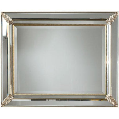 GM Luxury Pigalle Decorative Wall Art Mirror, Wood Coated with Chamfered Glass 40.6x32.3 - AGM Home Store LLC