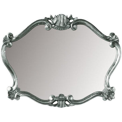 GM Luxury Pissarro Decorative Wall Art Mirror for Elegant Design, Silver Leaf 36x27.6 - AGM Home Store LLC