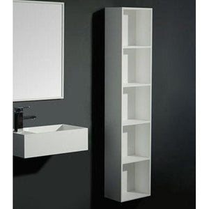 ideavit Large Wall Linen Tower Cabinet Side Cabinet W/ Shelves, White Solid Surface - AGM Home Store LLC