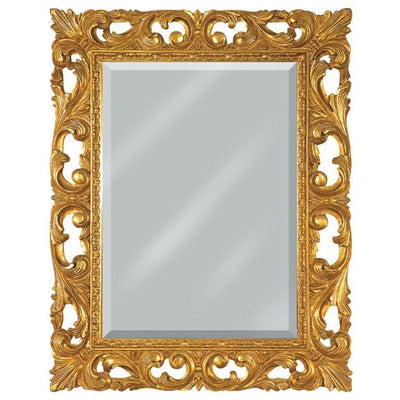 GM Luxury Puglia Rectangular Decorative Wall Art Mirror for Elegan Design, Gold Leaf 29.5x37.4 - AGM Home Store LLC