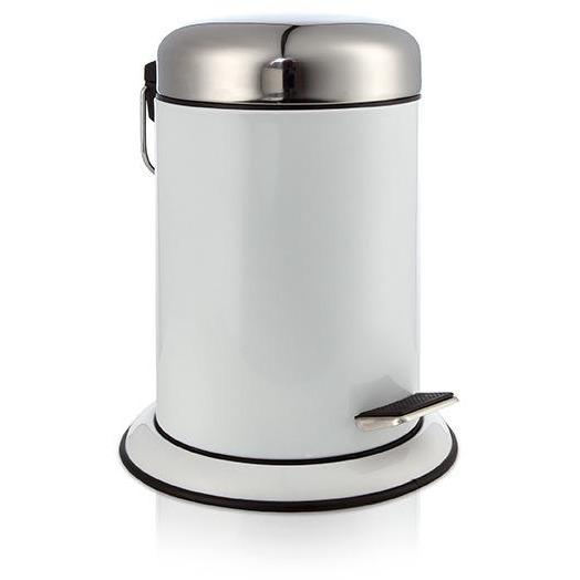 MV Round Pedal Wastebasket Trash Can for Bathroom, Kitchen, Office - AGM Home Store LLC