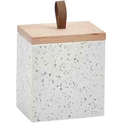 Quartz White Terrazzo Cosmetic Storage Makeup and Jewelry Organizer Beauty Box - AGM Home Store LLC