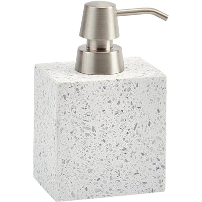 Quartz White Terrazzo Bathroom or Kitchen Pump Liquid Soap Lotion Dispenser - AGM Home Store LLC