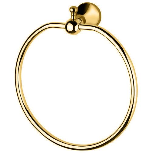 BA Regency Wall Round Towel Ring Holder Bath Hand Towel Holder Towel - Brass - AGM Home Store LLC
