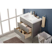 "Design Element Mason 30"" Single Sink Vanity In Gray, S01-30-GY - AGM Home Store LLC"