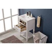 "Design Element Cara 20"" Single Sink Vanity In White, S02-20-WT - AGM Home Store LLC"
