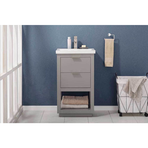 "Design Element Klein 20"" Single Sink Vanity In Gray, S04-20-GY - AGM Home Store LLC"
