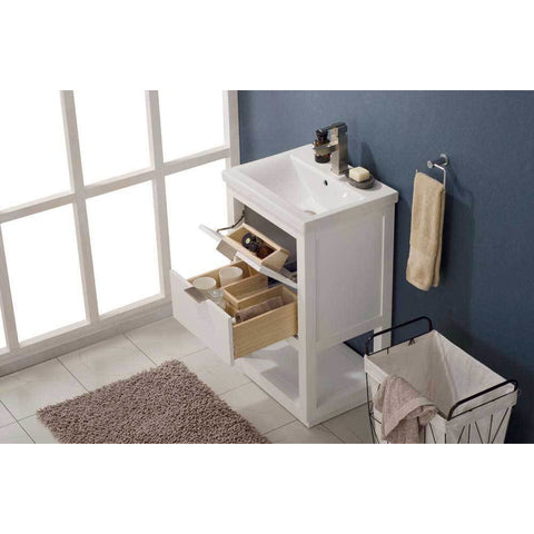 "Design Element Klein 20"" Single Sink Vanity In White, S04-20-WT - AGM Home Store LLC"