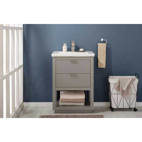 "Design Element Klein 24"" Single Sink Vanity In Gray, S04-24-GY - AGM Home Store LLC"