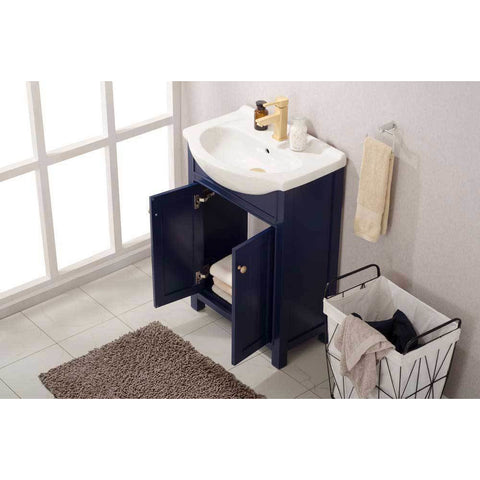 "Design Element Marian 24"" Single Sink Vanity In Blue, S05-24-BLU - AGM Home Store LLC"