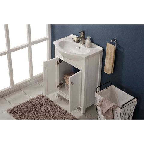 "Design Element Marian 24"" Single Sink Vanity In White, S05-24-WT - AGM Home Store LLC"