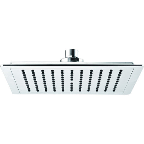 Novara Rain Shower Head 7.9 in. Square Swivel Rainfall Showerhead ABS Polished Chrome - AGM Home Store LLC