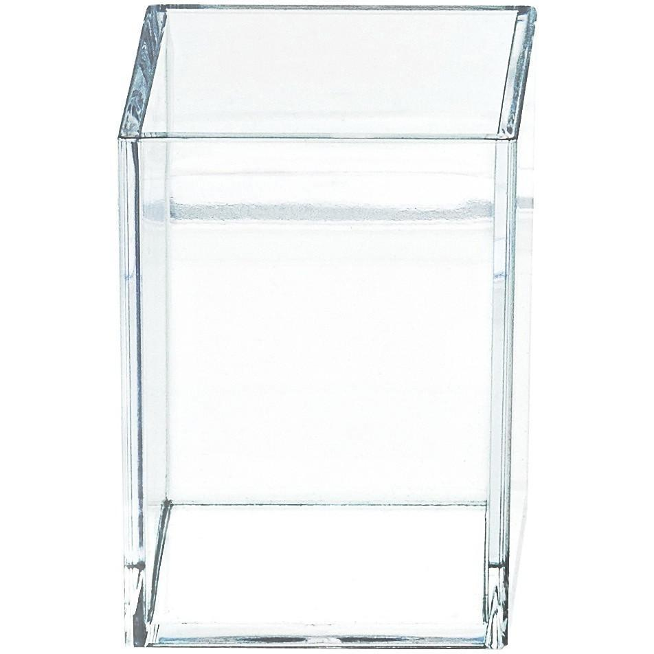 DWBA Acrylic Clear Toothbrush Toothpaste Holder Stand for Bathroom Countertops - AGM Home Store LLC