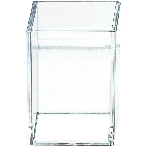 DWBA Acrylic Clear Toothbrush Toothpaste Holder Stand for Bathroom Countertops