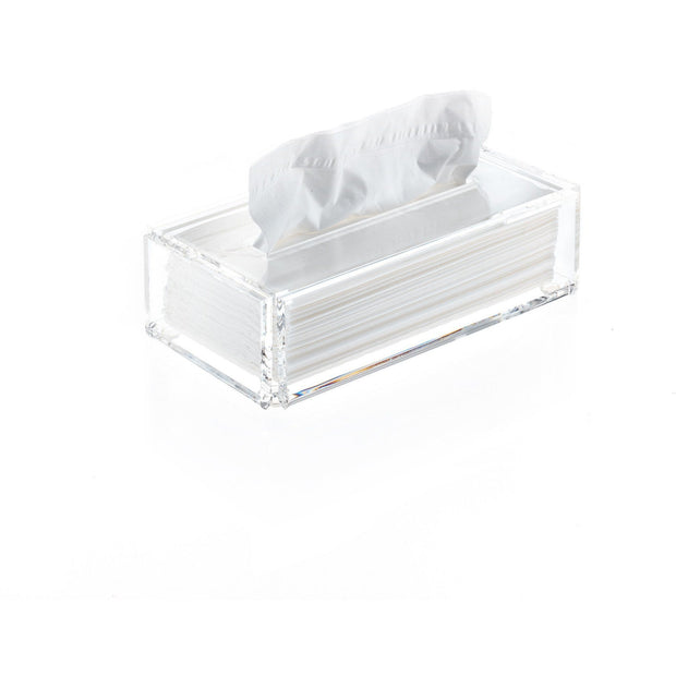SKY KB Tissue Box Holder Cover Tray Dispenser Tissue Case - Clear Acrylic - AGM Home Store LLC