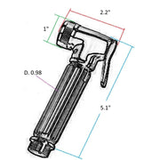 Novara Handheld Toilet Bath Brass Bidet Diaper Shower Spray Sprayer Faucet Chrome - AGM Home Store LLC
