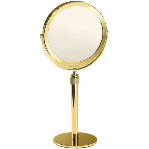 DWBA Table Height Adjustable Cosmetic Makeup 5x Magnifying  Mirror, Chrome