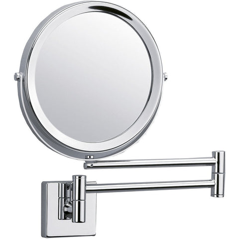 DWBA Wall Mounted 5x Cosmetic Makeup Magnifying 2-arms Swivel Mirror. Chrome