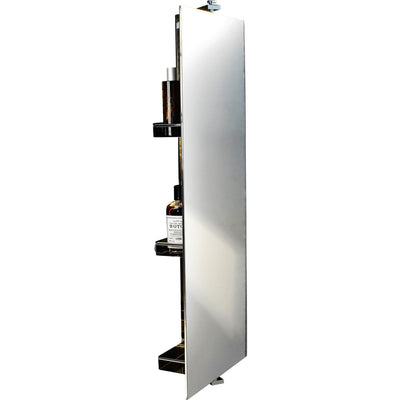 DWBA Wall Linen Tower 360 Degree Rotating Cabinet Full-Length Mirror & Shelves - AGM Home Store LLC