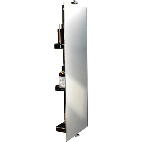 DWBA Wall Linen Tower 360 Degree Rotating Cabinet Full-Length Mirror & Shelves