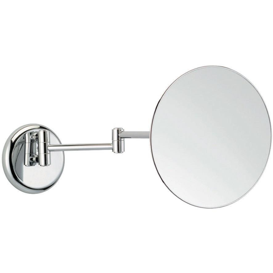 BA Wall Mounted Double Arm Round 2X Cosmetic Makeup Magnifying Mirror - Brass - AGM Home Store LLC