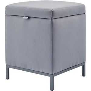 Spark Square Folding Storage Ottoman, Stool Seat, Footrest Stool, Acrylic Fabric - AGM Home Store LLC