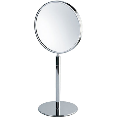 DWBA Round Cosmetic Makeup 4x Magnifying Table Mirror, w/ Swivel Head. Chrome - AGM Home Store LLC