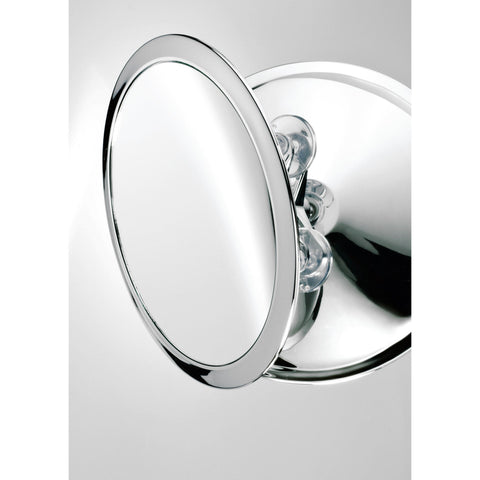 "DWBA 9.3"" Round Suction cup Swivelling Cosmetic Makeup Magnifying Mirror, Chrome"