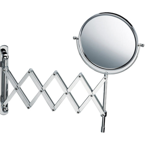 DWBA Wall Mounted 5X Cosmetic Makeup Magnifying Swivel & Extendable Mirror. Chrome - AGM Home Store LLC