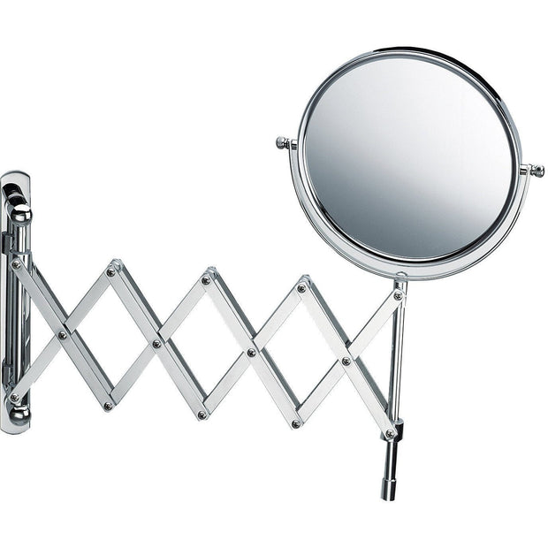 SPT 18 Wall Mounted 5X Cosmetic Makeup Magnifying Swivel & Extendable Mirror. Chrome - AGM Home Store LLC