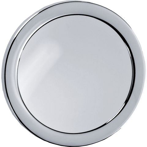 DWBA Round Suction Cup 5X Cosmetic Makeup Magnifying Mirror, Chrome - AGM Home Store LLC