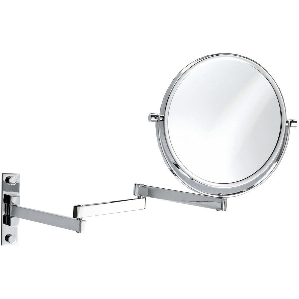 DWBA Wall Mounted Cosmetic Makeup Magnifying Swivel & Extendable Mirror. Chrome - AGM Home Store LLC
