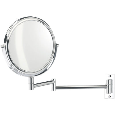DWBA Wall Mounted 5x Cosmetic Makeup Magnifying 2-arms Swivel Mirror. Chrome - AGM Home Store LLC